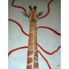 """Жираф""  80х110см, холст, масло"
