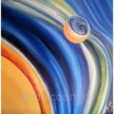 """Картина  """"Меркурий"""" 70х70см, холст, масло"""