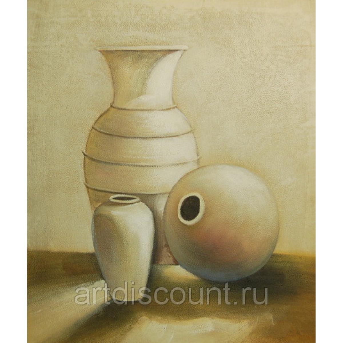 "Картина ""Песчаные вазы"", холст, масло, 50х60см"