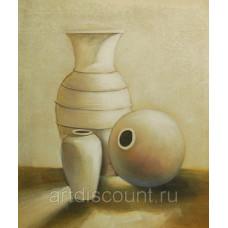 """Песчаные вазы"", холст, масло, 50х60см"