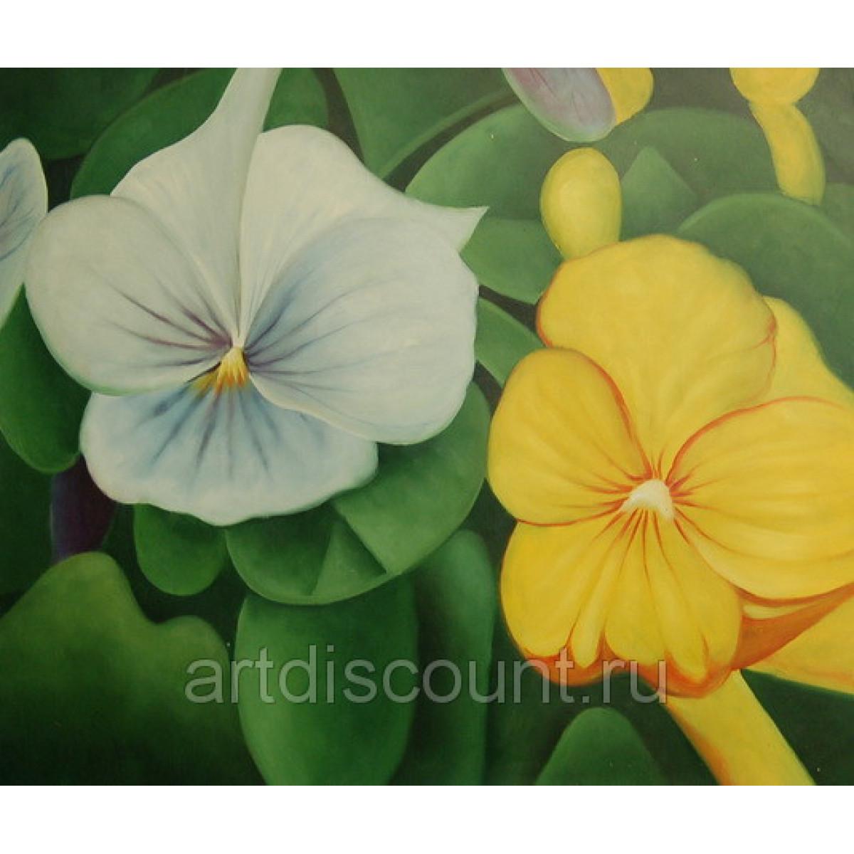 """Картина """"Цветы"""" холст, масло 50х60см."""