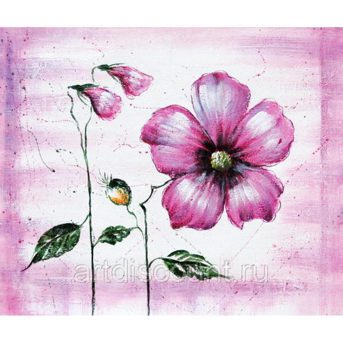 "Картина ""Фиолетовый цветок"" 50х60 1500"