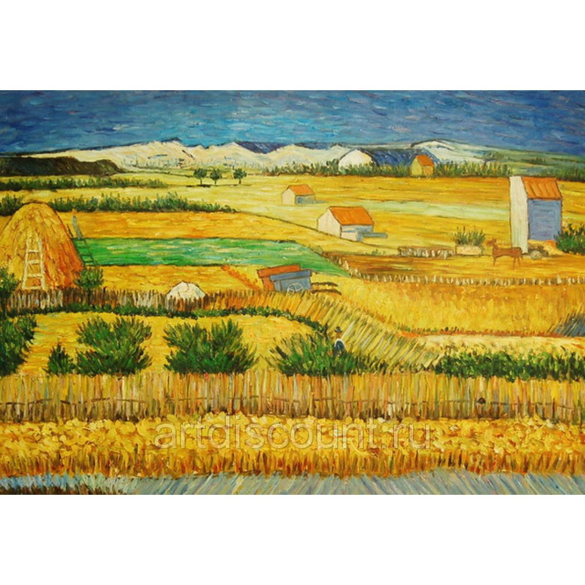 "Картина ""Сельский пейзаж 2"" 60х90, холст, масло"