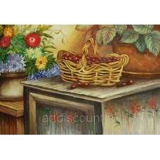 "Картина  ""Ягоды"" 60х90см, холст, масло"