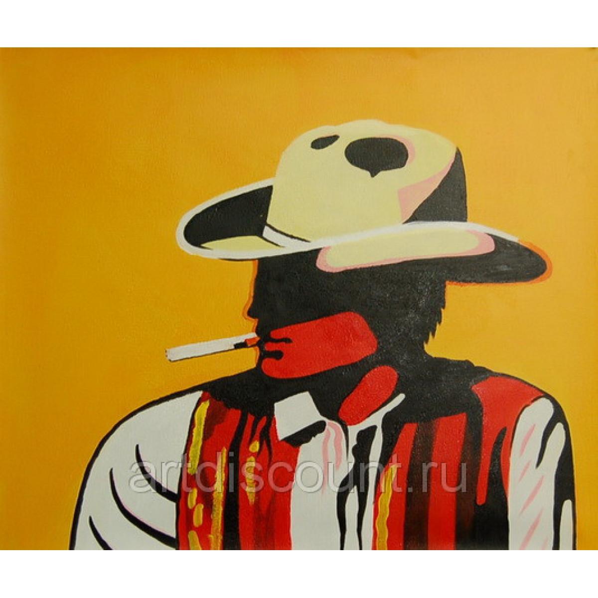 """Картина """"Ковбой Мальборо"""" Холст, масло, 50х60см"""