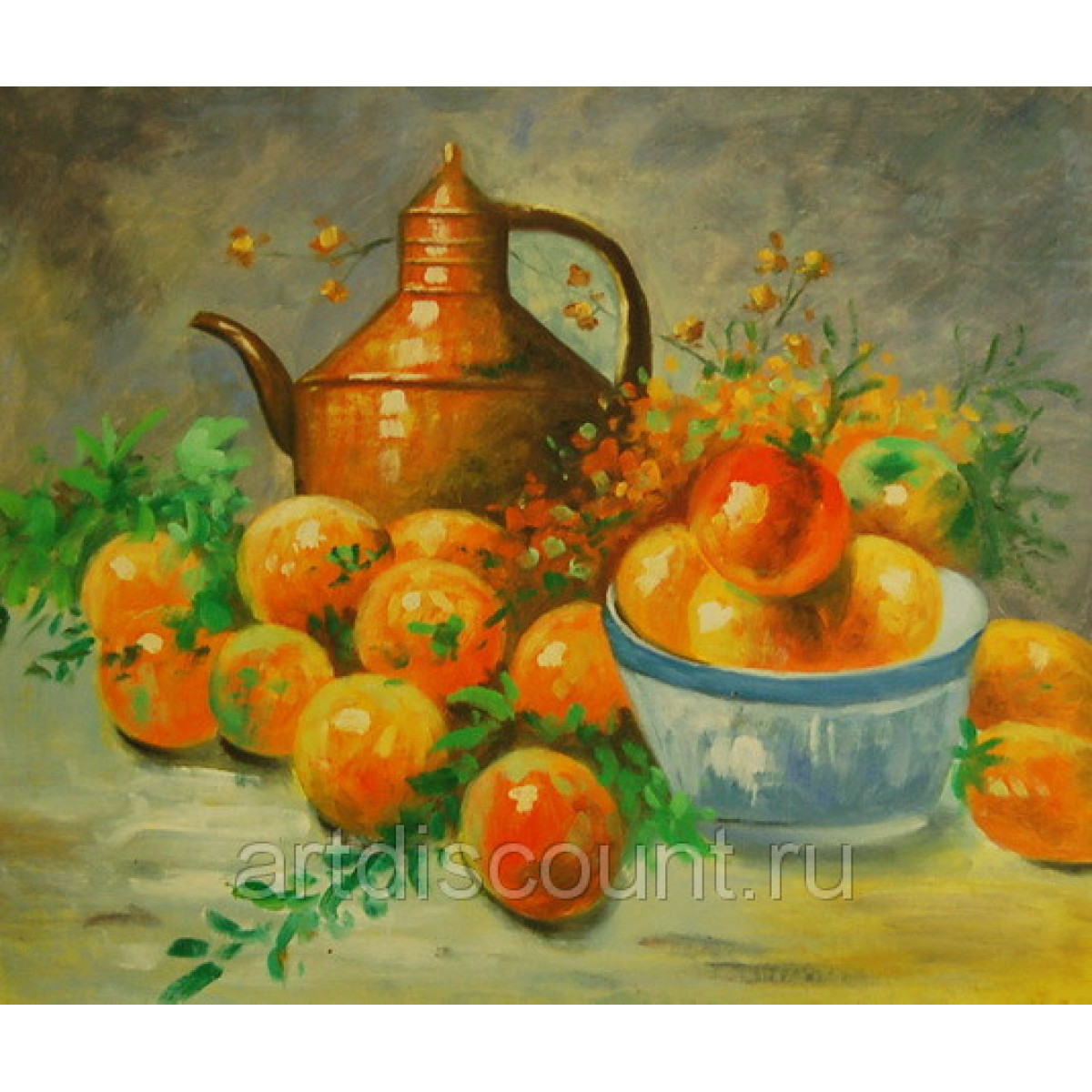 """Картина """"Кувшин и яблоки"""" Холст, масло, 50х60см"""