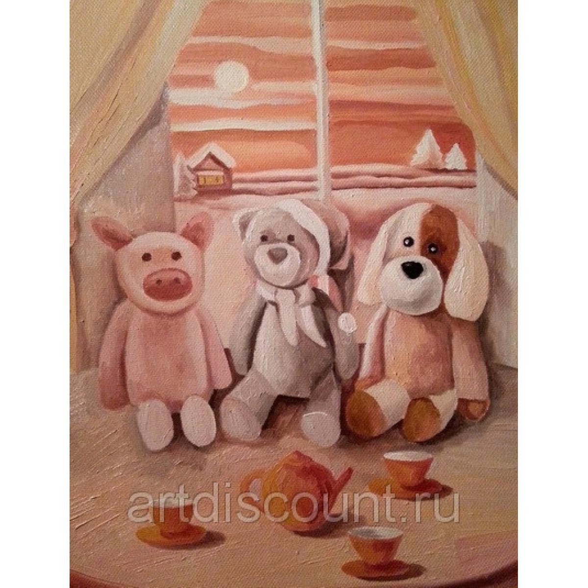 """Картина """"Три богатыря"""" 40х50см, холст, масло"""