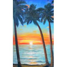 """Картина  """"Закат на океане"""""""