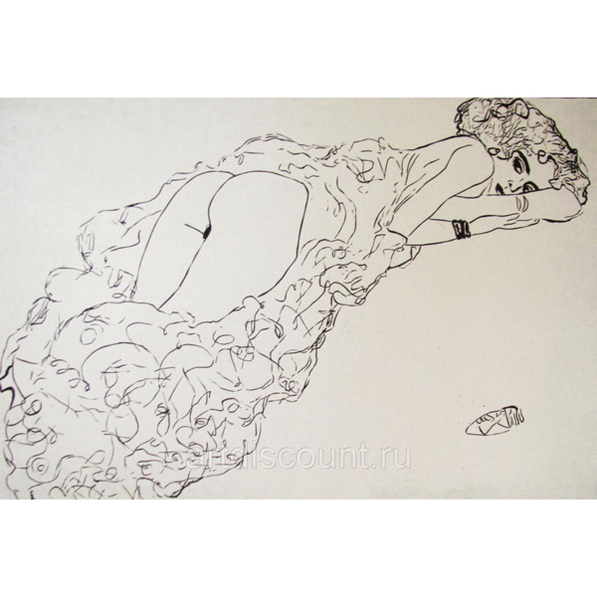 Картина Копия с наброска Климта