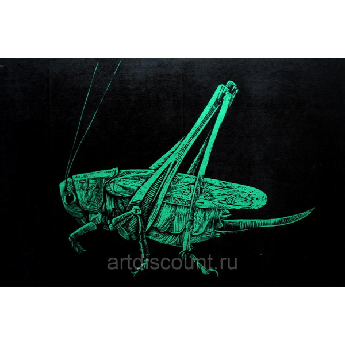 Картина Линогравюра Кузнечик