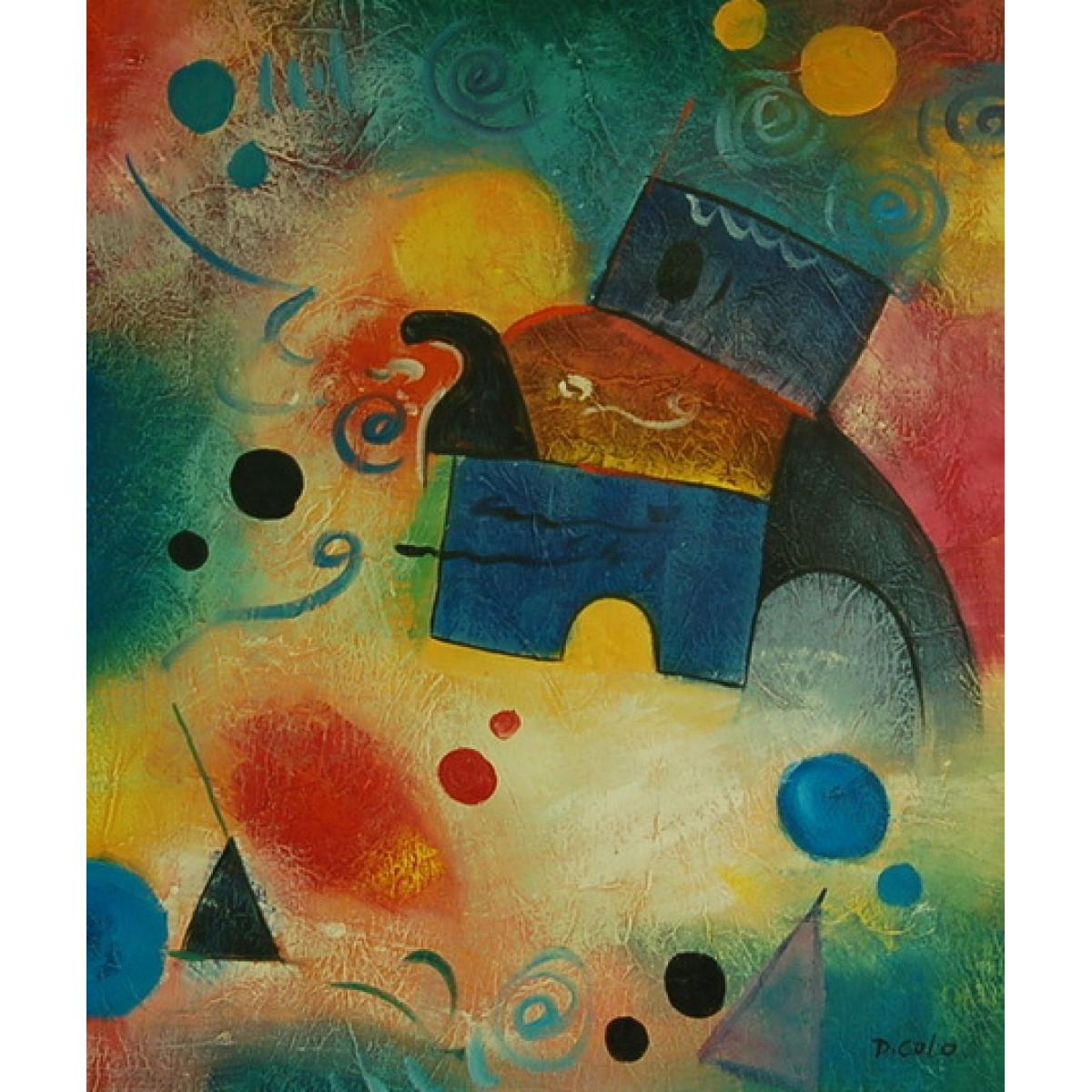Картина Абстракция Слон, холст, масло, 50х60см