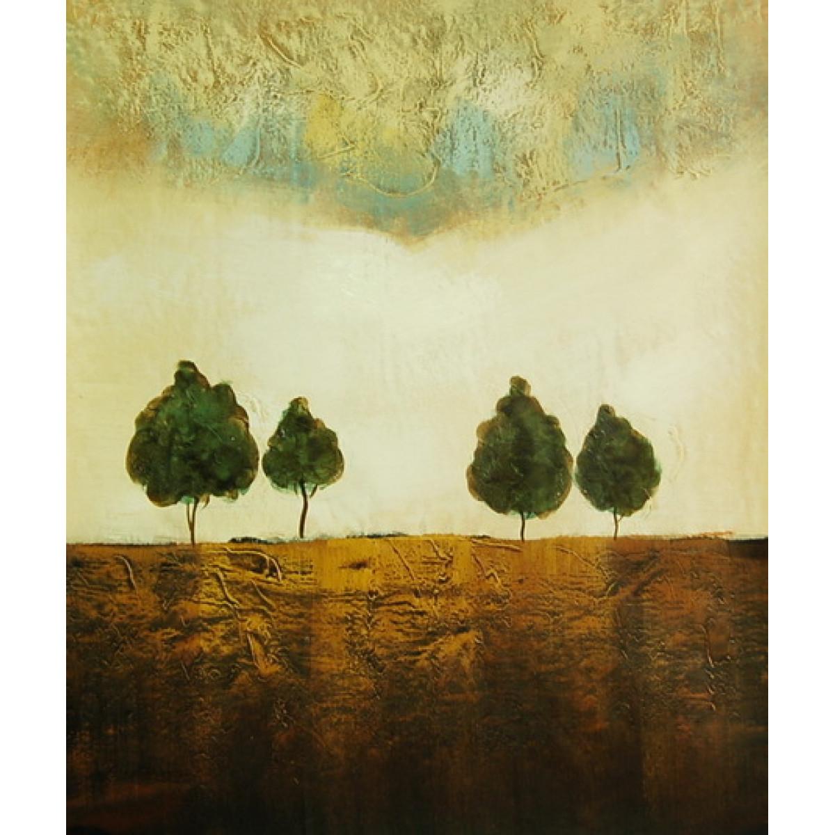 "Картина ""Деревья"" , холст, масло, 50х60см"