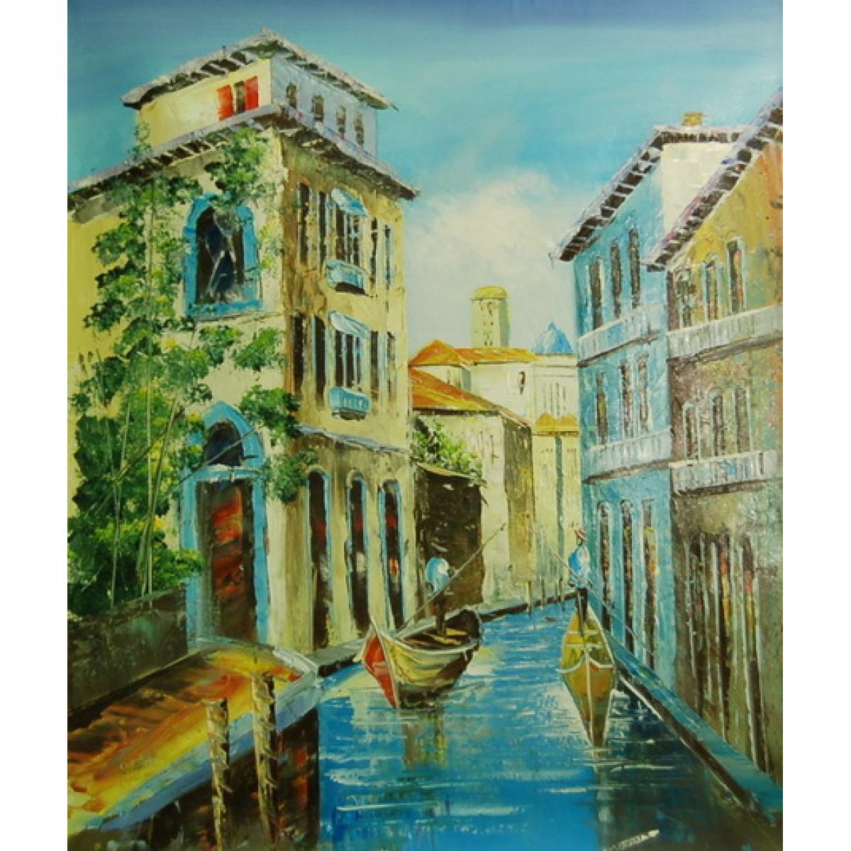 """Картина """"Канал в Венеции"""", холст, масло, 50х60см"""