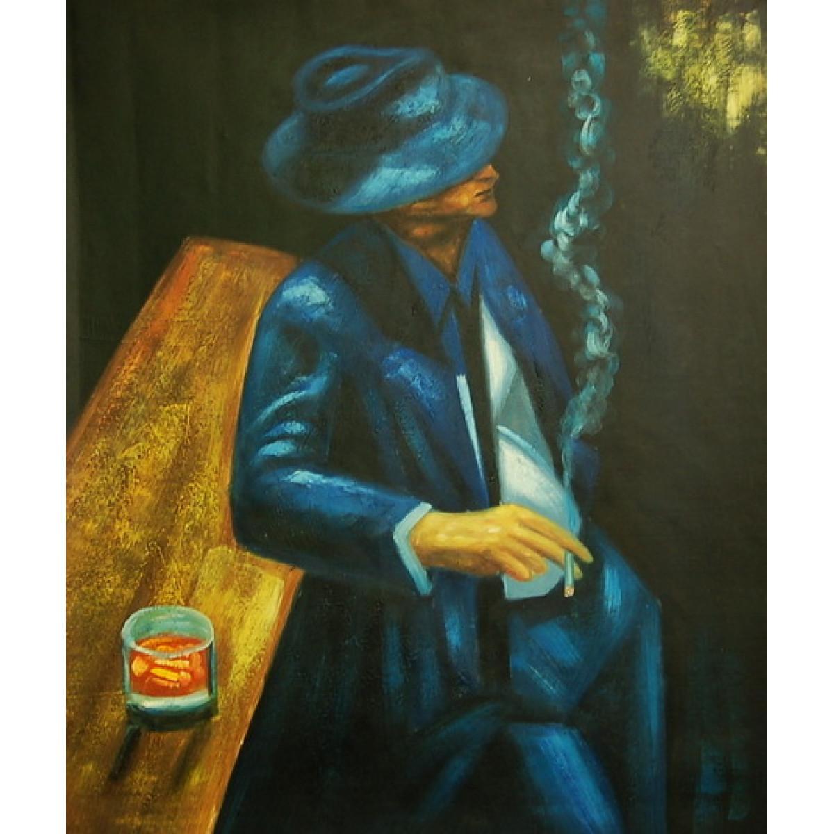 """Картина """"Мужчина у стойки бара"""" , холст, масло, 50х60см"""