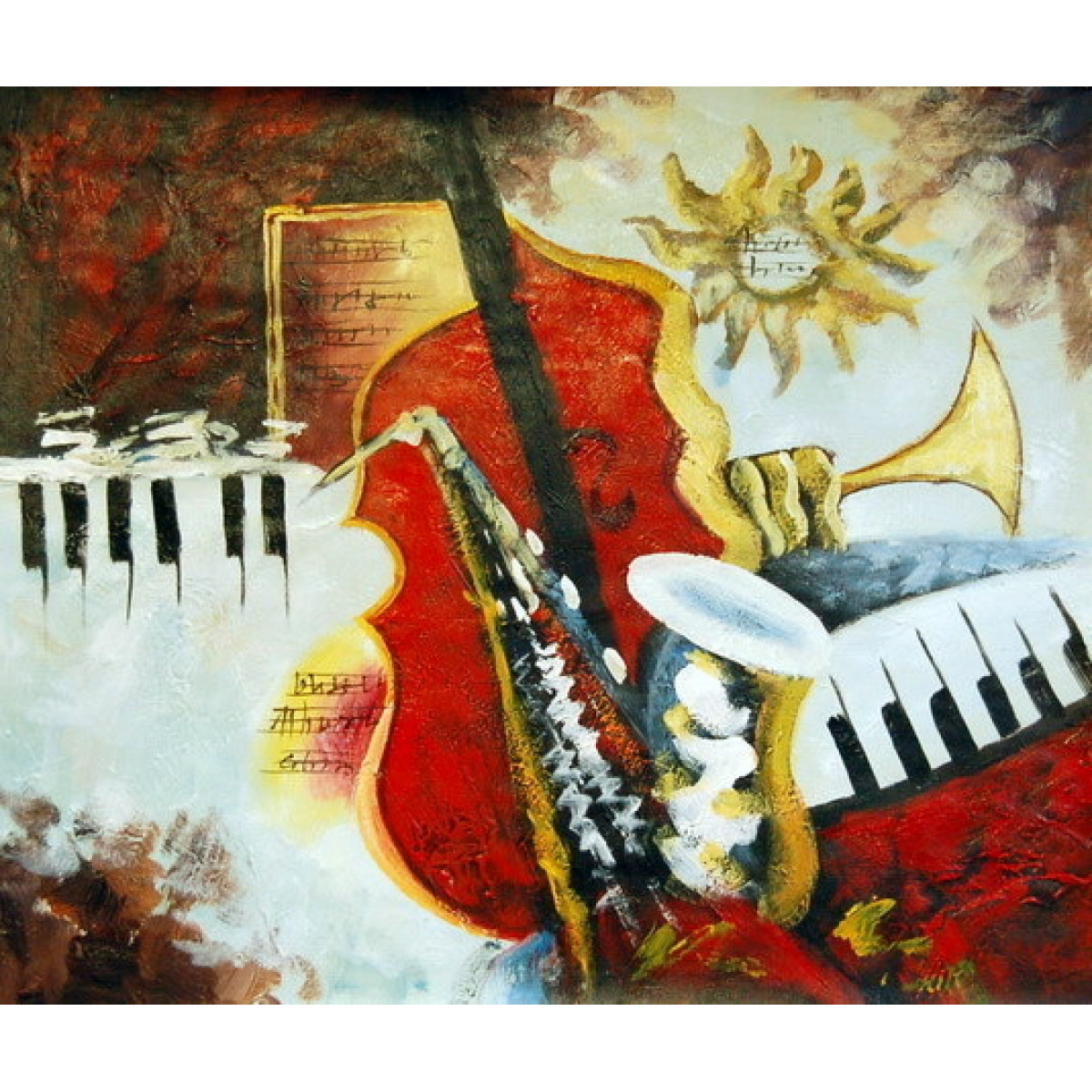 "Картина ""Оркестр"", холст, масло, 50х60см"
