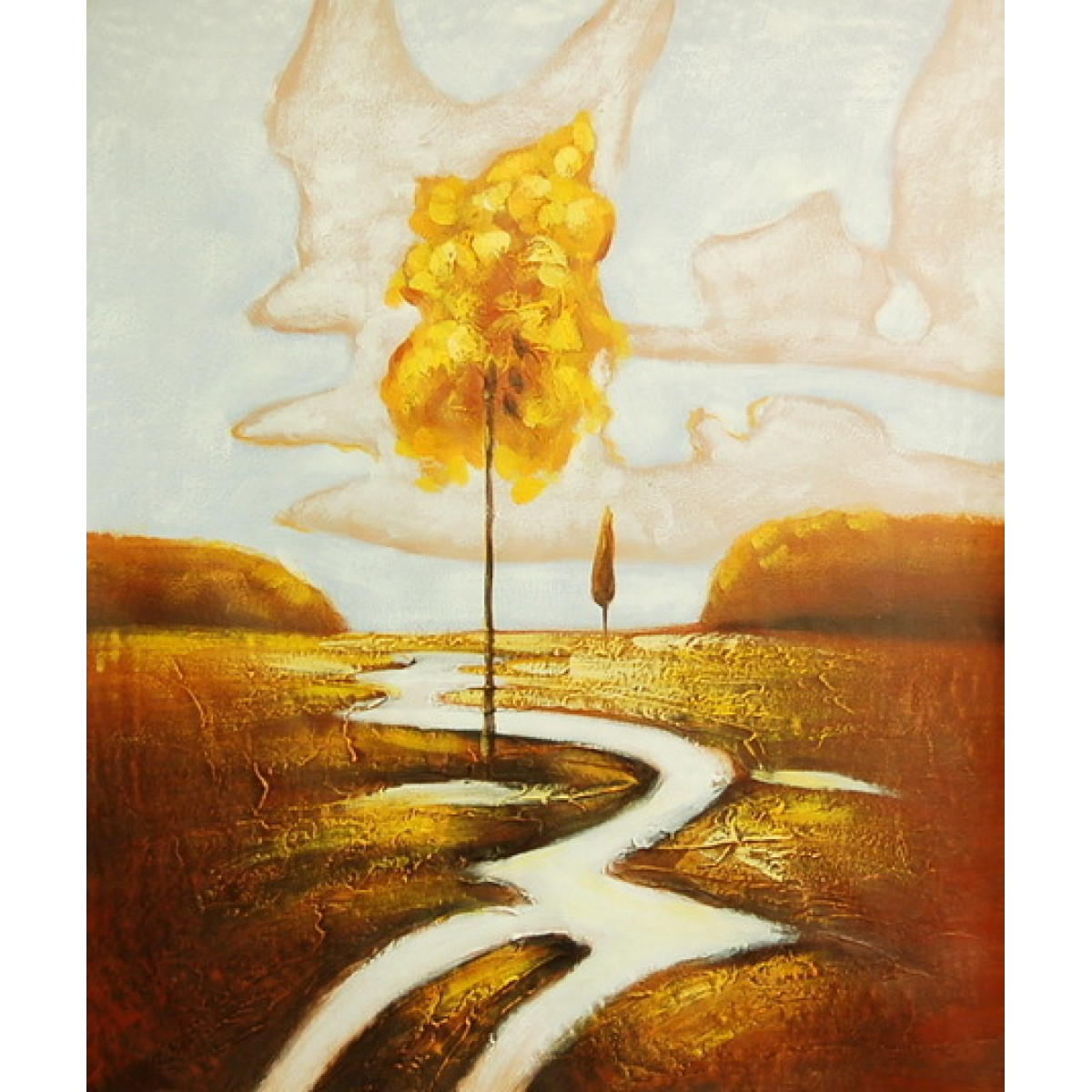 "Картина ""Осеннее дерево"" , холст, масло, 50х60см"