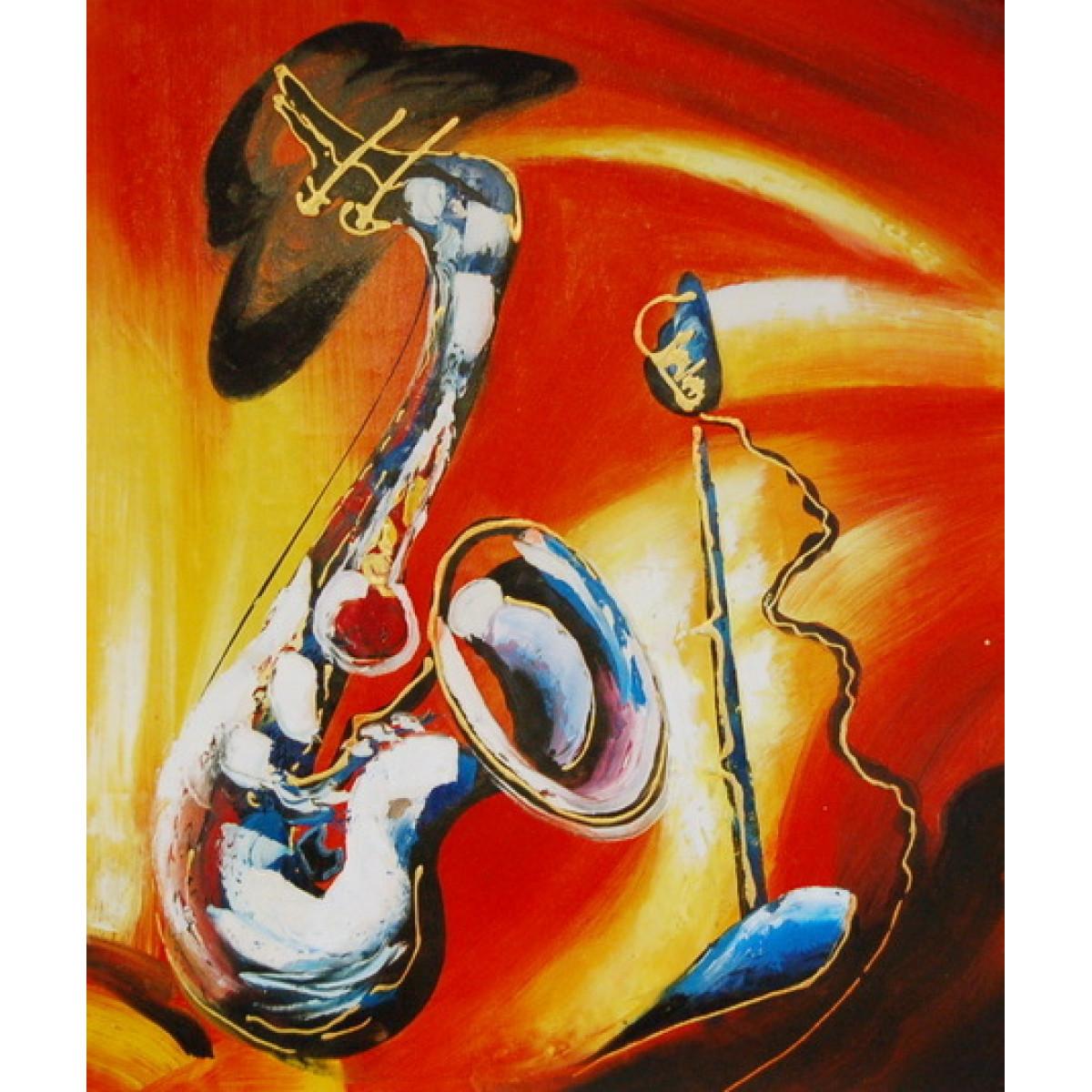 """Картина """"Саксофон"""", холст, масло, 50х60см"""