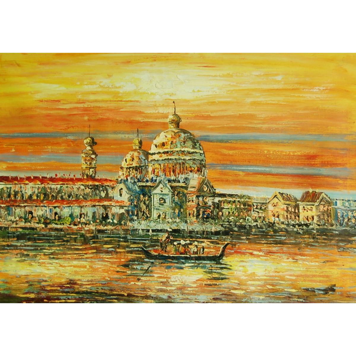 """Картина """"Солнечная Венеция"""" , холст, масло, 60x90см"""