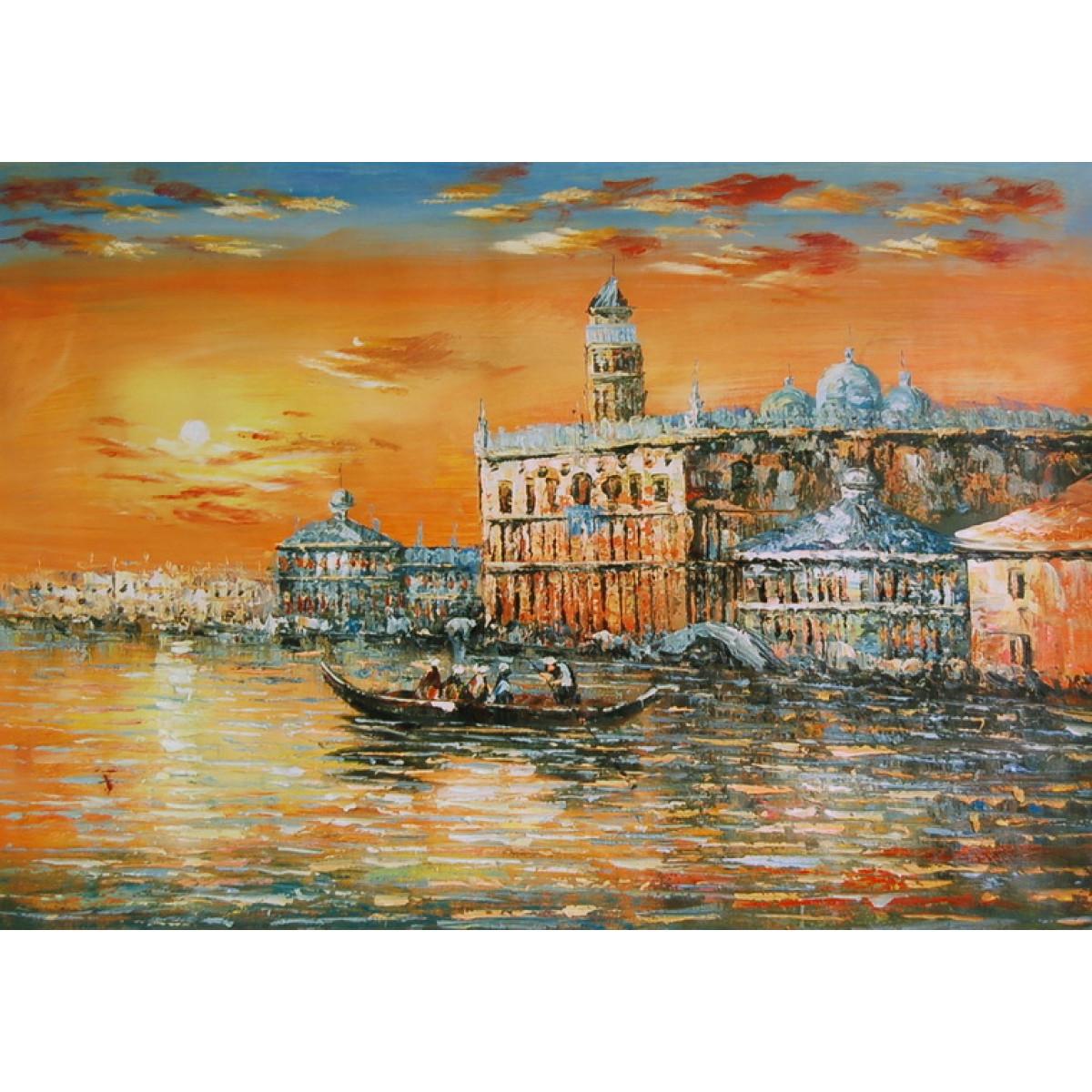 """Картина """"Венецианский дворец"""" , холст, масло, 60x90см"""