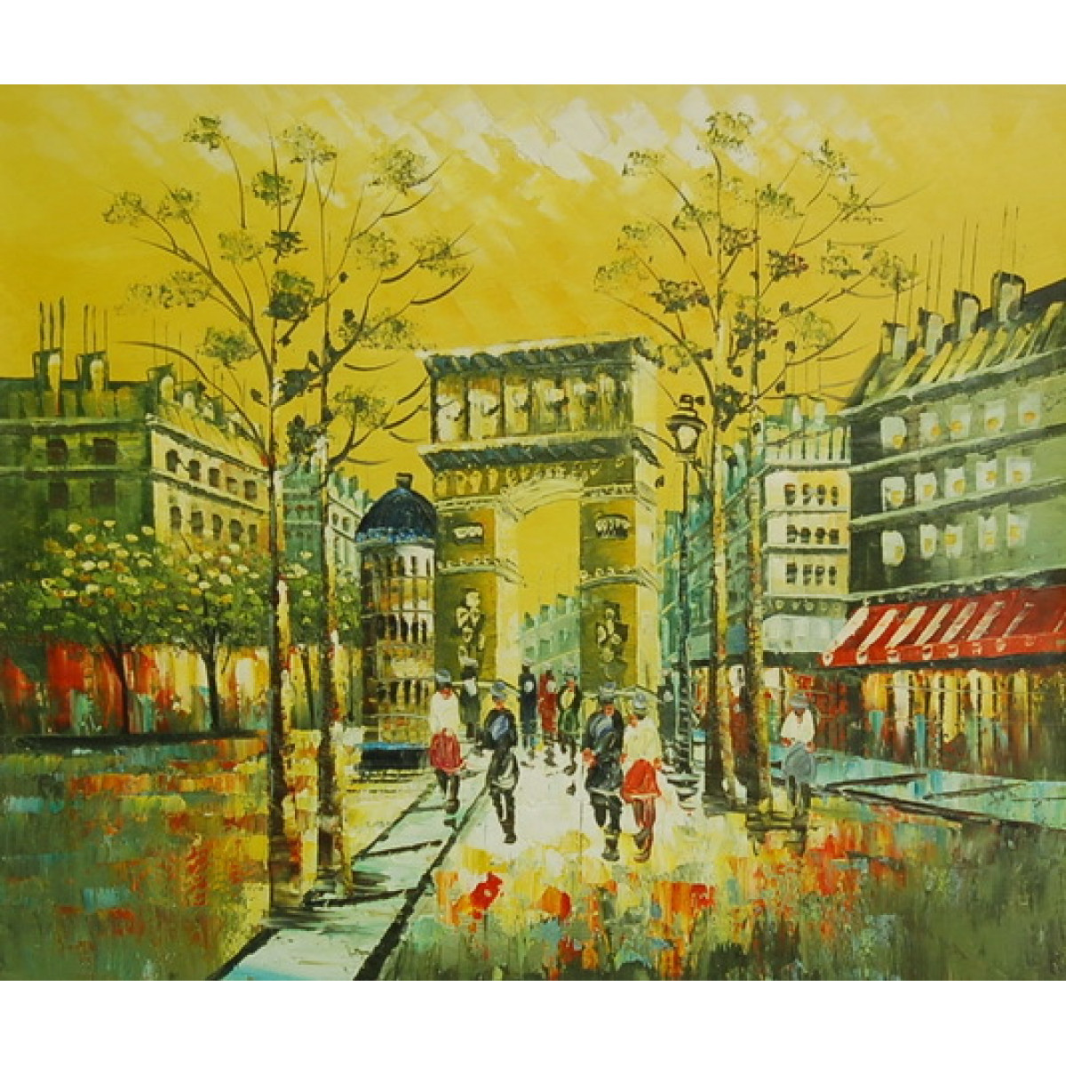 """Картина """"Париж в желтых тонах"""" , холст, масло, 50x60см"""