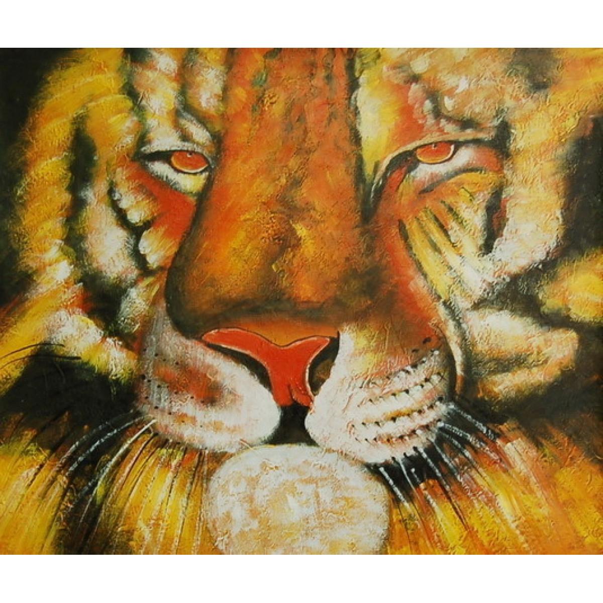 """Картина """"Тигр 2"""" , холст, масло, 50x60см"""