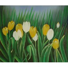 "Картина ""Тюльпаны"" , холст, масло, 50x60см"