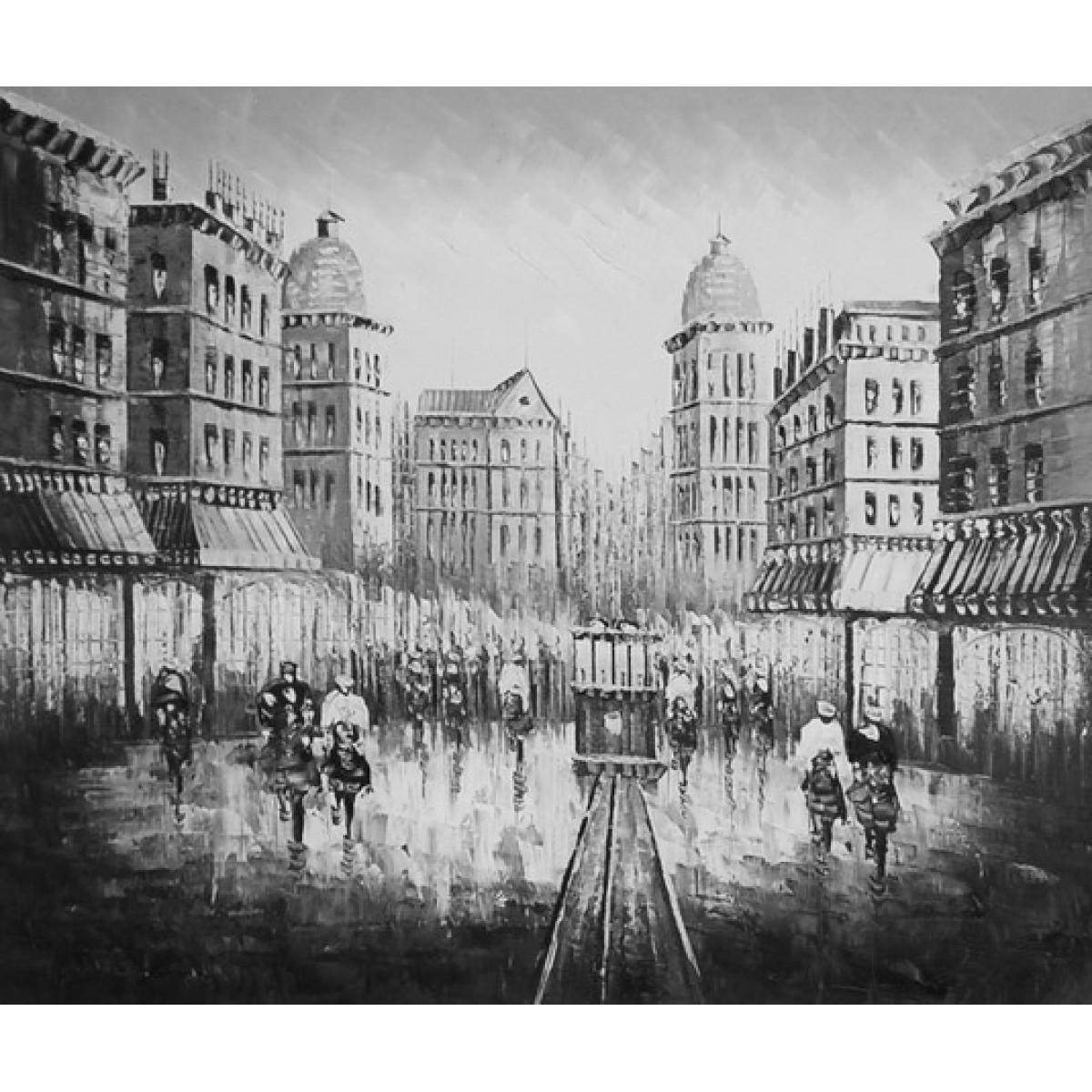 """Картина """"Улица"""" , холст, масло, 50x60см"""
