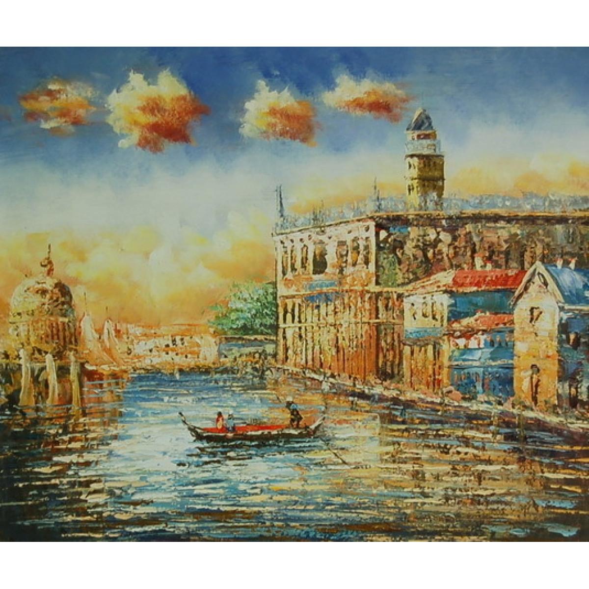 "Картина ""Венеция дворец дожей"", холст, масло, 50х60"