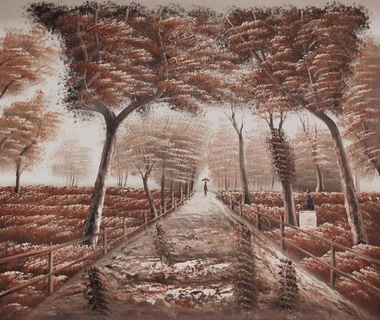 картина прогулка по парку