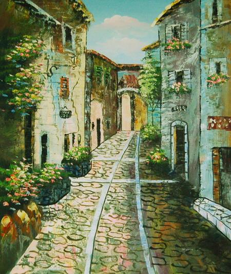 картина итальянская улочка